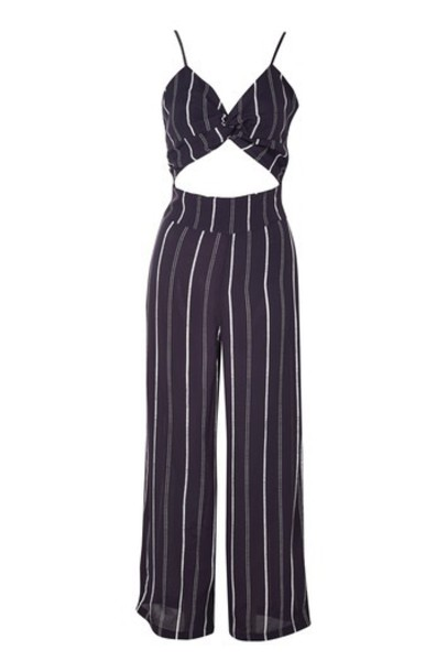 Topshop jumpsuit navy blue