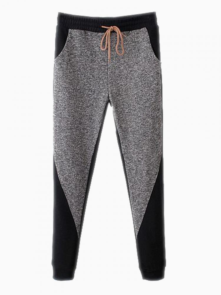 Gray Jersey Sport Pants | Choies