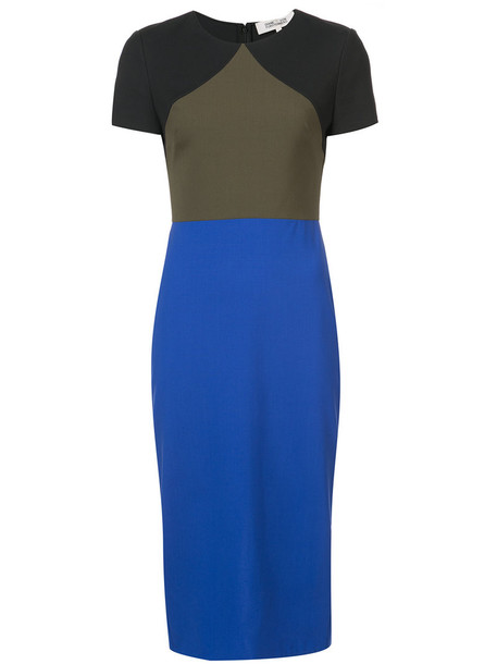 dress midi dress women midi blue