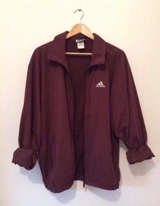 jacket adidas burgundy silk women's women