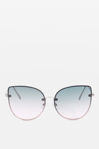 oversized sunglasses silver