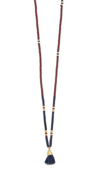 necklace gold navy burgundy jewels