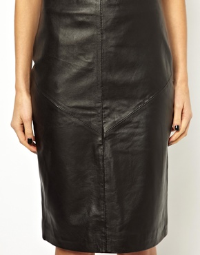 Y.A.S | Y.A.S Pencil Skirt in Leather at ASOS