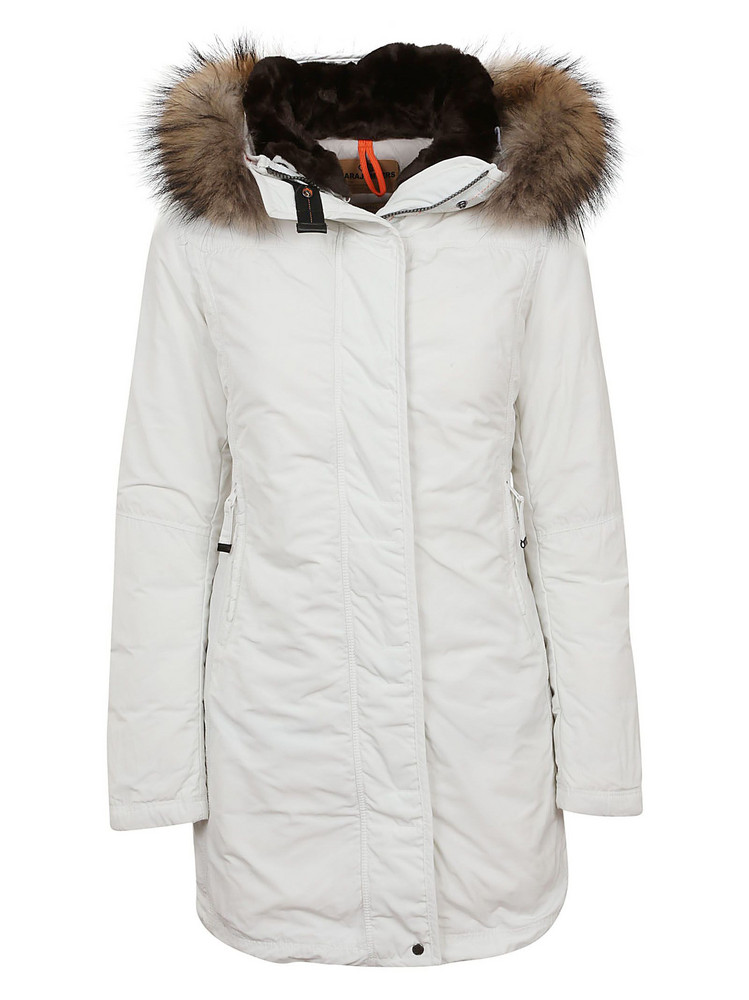 Parajumpers Fur Hooded Parka in white