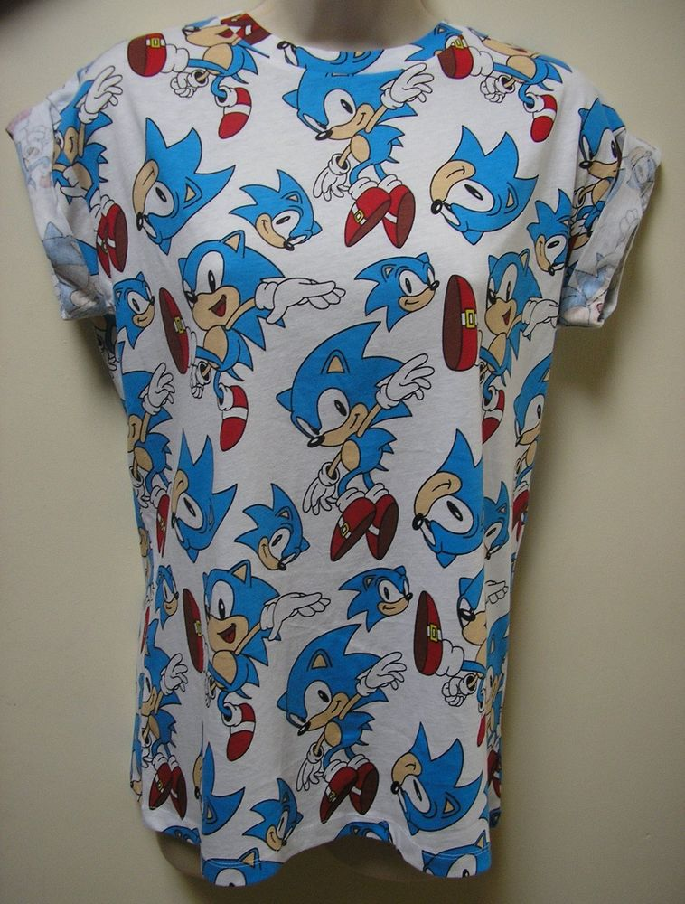 Sonic The Hedgehog Print T Shirt Top Uk 6 20 Primark Ladies