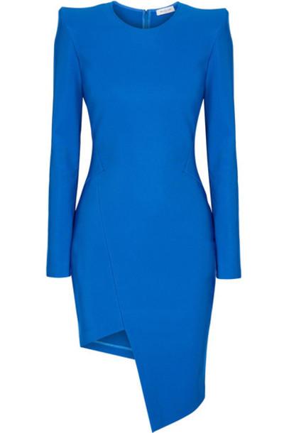 MUGLER dress blue knit cobalt blue