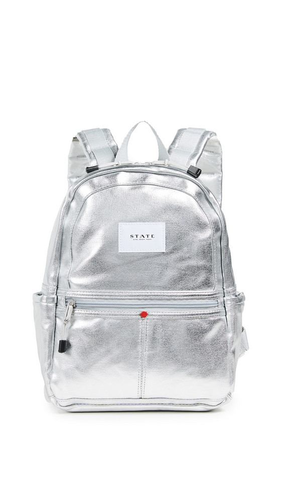 STATE Mini Kane Backpack in silver