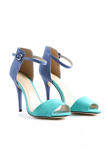 Cynthia contrast heeled sandals