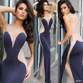dress blue prom dress sweethert dress sweetheart cute lovely