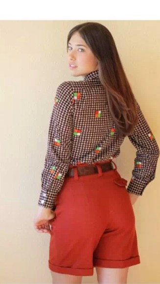 runway shorts fashion blouse shirt top