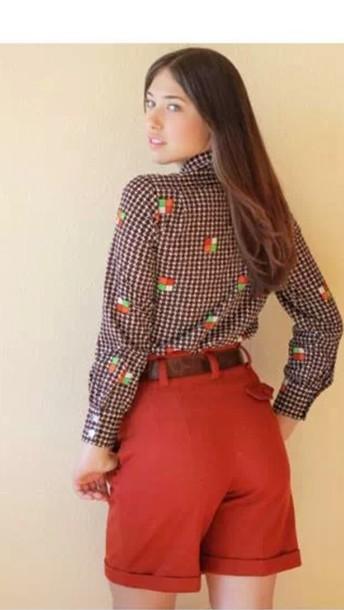blouse runway fashion shirt top shorts