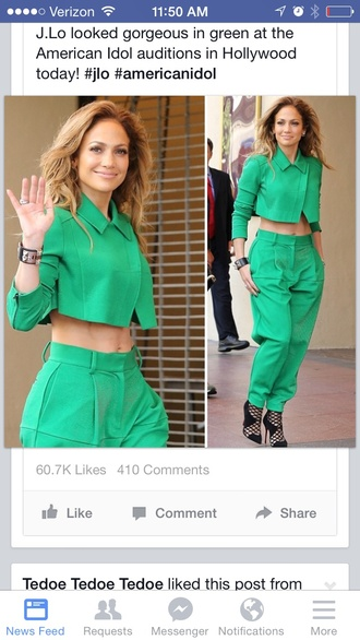 green jacket green jennifer lopez