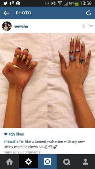 nail polish claws fake nails