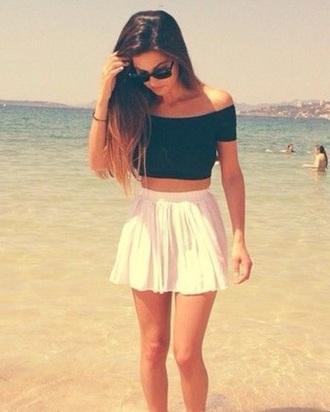 top crop tops short skirt skirt