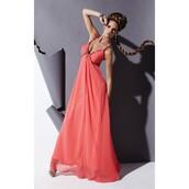 dress,chiffon,salmon,party dress