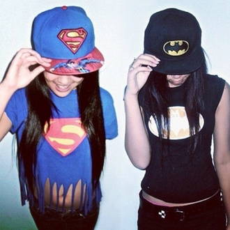 hat superman batman logo logos superhero superheroes superhero hats snapback snapback hat amazing sweet shirt tank top chill hair accessory