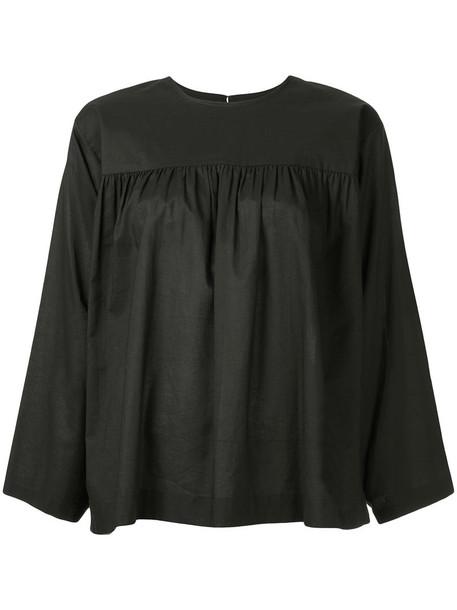 Julia Jentzsch blouse women cotton black top