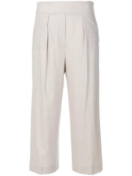 Fabiana Filippi pleated cropped women spandex nude cotton pants