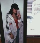 jacket,dope,style scrapbook,style,white,rain,street,urban,fashion,tommy jacket,raincoat,tommyhilifier jacket,blanc,windbreaker,white jacket