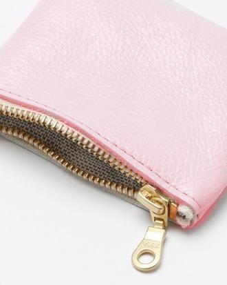 bag pink little wallet zip girl gold