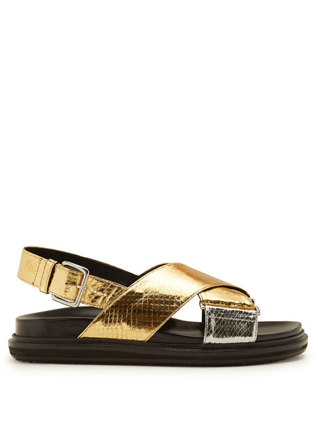 sandals gold silver shoes