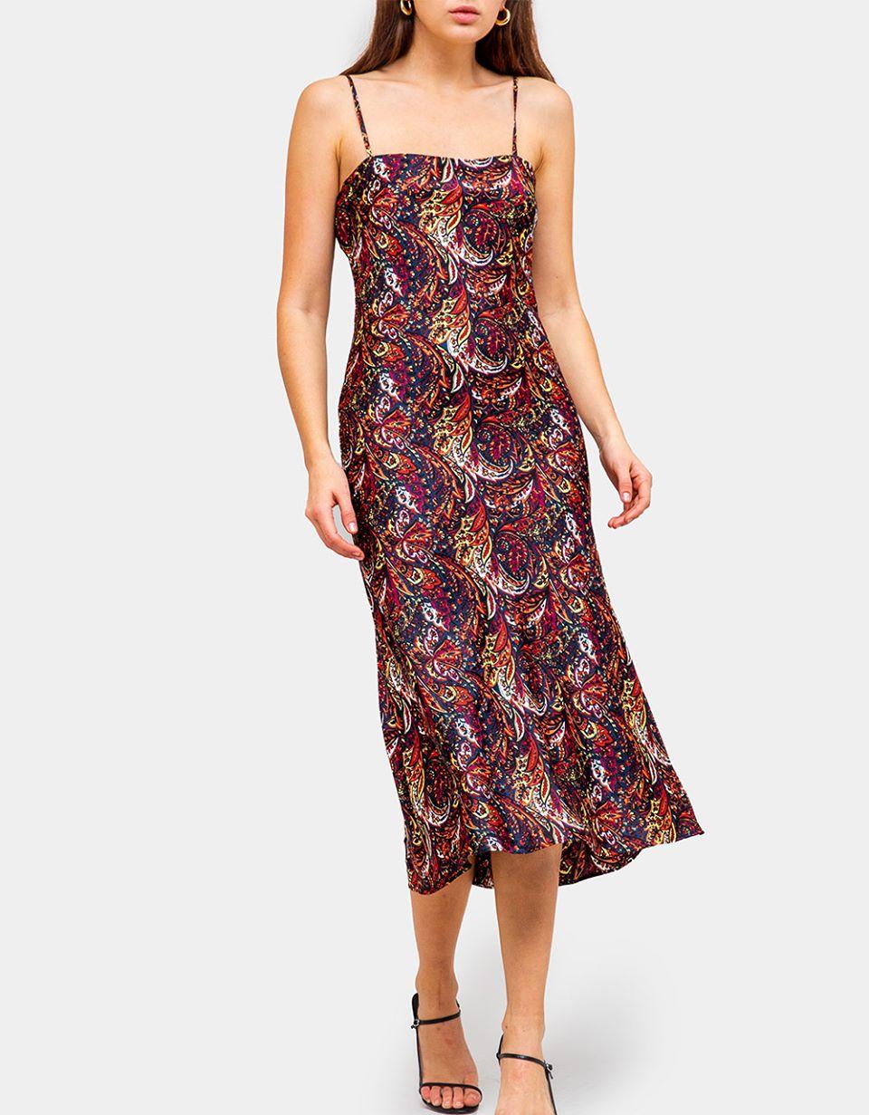 Hans Paisley Slip Dress