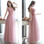 dress,prom,prom dress,pink,pink dress,floral,lace,lace dress,love,pretty,cute,cute dress,bridesmaid,special occasion dress,sexy,fashion,trendy,girly,sexy dress,tulle dress,pastel,pastel pink,maxi,maxi dress,long,long dress,floral dress,floor length dress,long prom dress,sweet,style,stylish,fashionista,baby pink,chiffon,chiffon dress,summer,vogue,fabulous,beautiful,wow,amazing,lovely,cool
