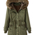 ROMWE | ROMWE Pockets Hooded Drawstring Army Green Coat, The Latest Street Fashion