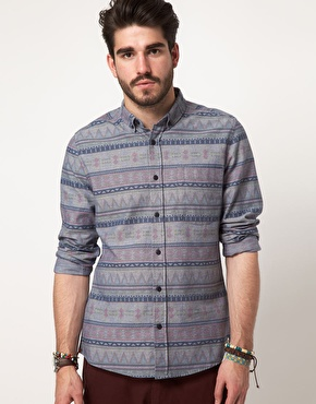 ASOS | ASOS Printed Geo-Tribal Shirt at ASOS