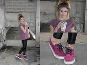 shoes,nike,nike sb,janoski's,purple,burgundy,wet look leggings,pretty,hipster,indie,leggings