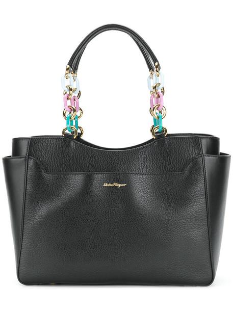 Salvatore Ferragamo women embellished bag tote bag leather black