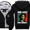 Jamaica reggae bob marley one love super warm thicken fleece zip up hoodie mens coat -in hoodies & sweatshirts from men's clothing & accessories on aliexpress.com | alibaba group