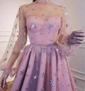 dress,pink,stars,light pink,strapless,sheer,silver,mesh,cute,sparkle,baby pink