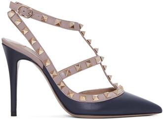 heels navy pink shoes