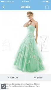 dress,mint dress,lace,bling