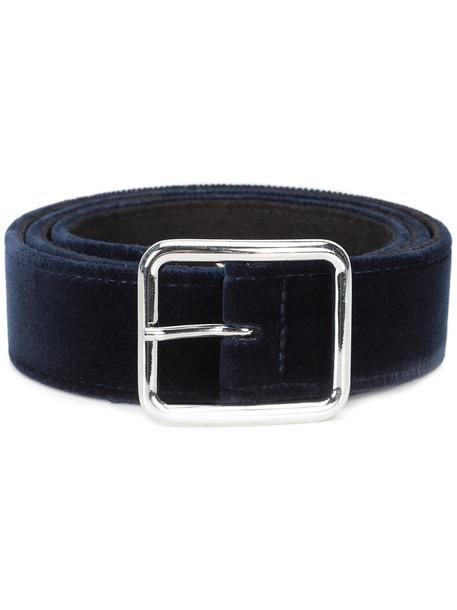 belt blue velvet