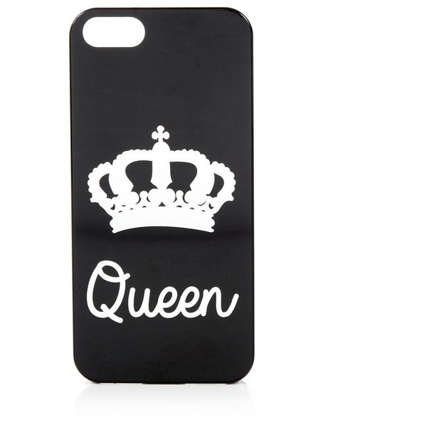 2 Pack Black King and Queen iPhone Cases - Polyvore