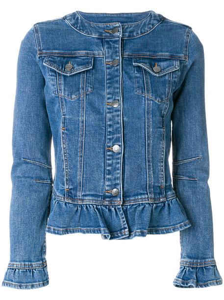 jacket denim jacket denim women spandex cotton blue