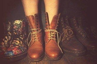 shoes boots cute tumblr pinterest hipster brown indie pretty
