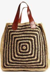 bag,raffia,raffia bag,tote bag,ornament print,beach bag