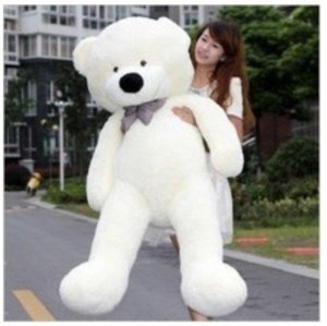 Amazon.com : white 120cm teddy bear toy stuffed toy 47inch giant huge big new arrival plush teddy bear animal plush soft teddy bear toy : toys & games