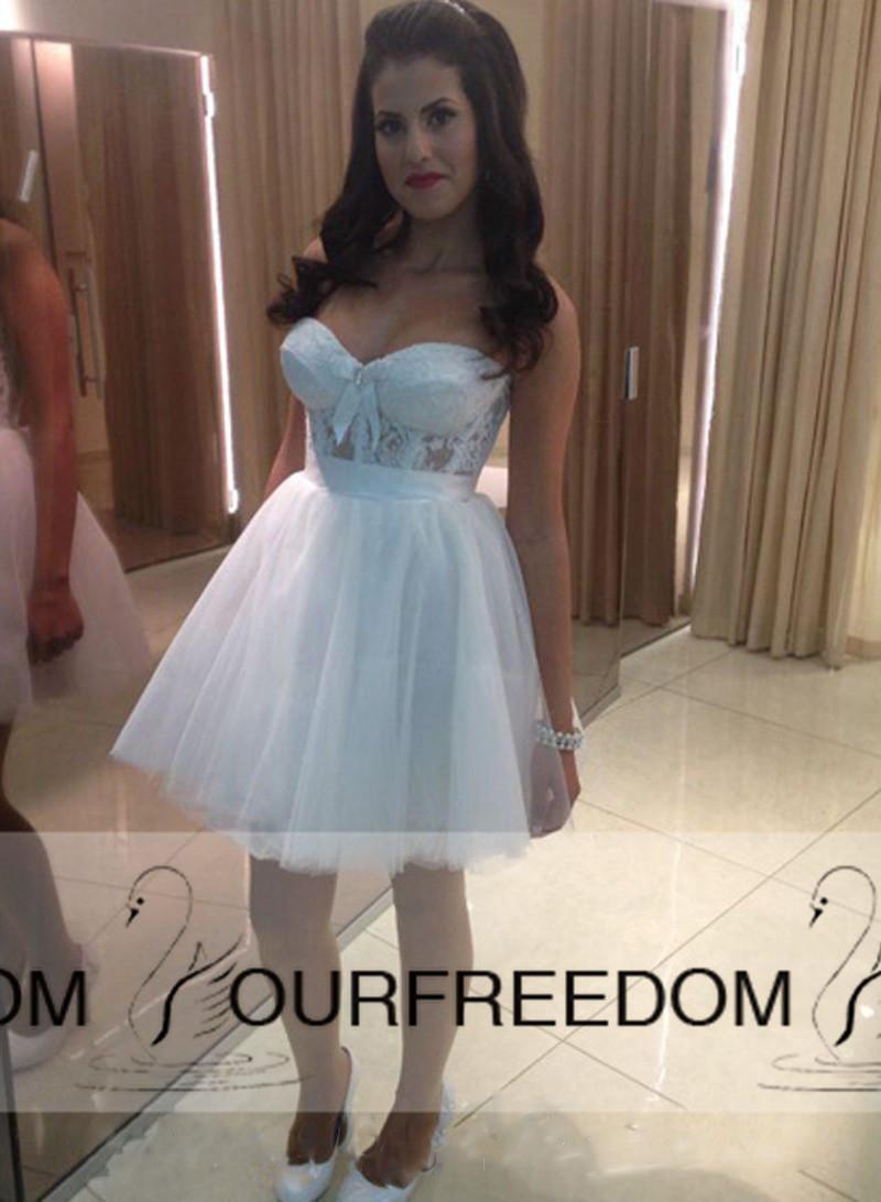 Wedding Dress with Lace Up Bow