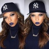 make-up,liquid lipstick,peppermayo,navy lipstick,purple lipstick,dark lipstick