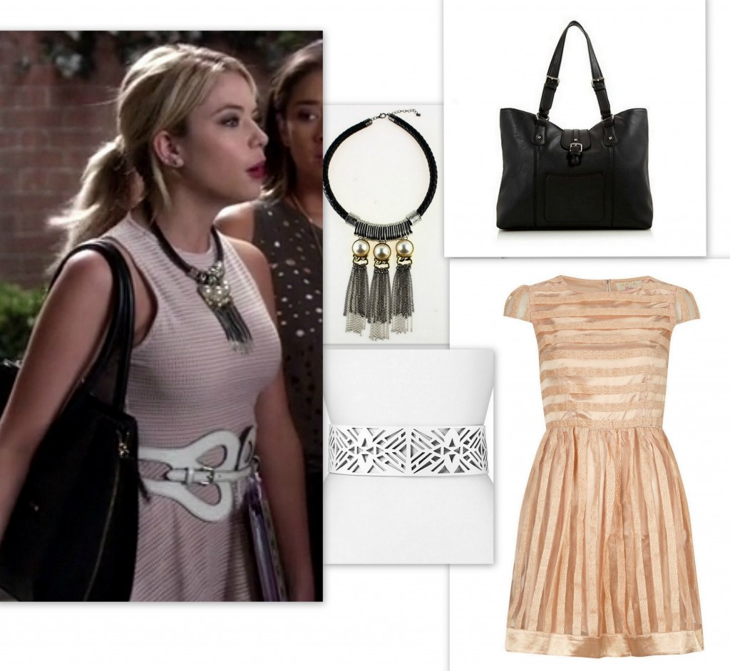 PLL - Hanna's Style - Beige Dress and Statement Necklace