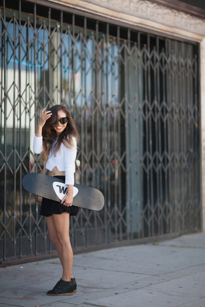 fashion toast sweater skirt shoes bag sunglasses