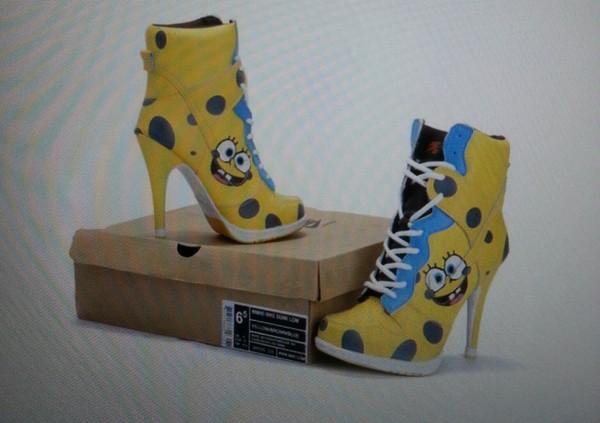 shoes shoes yellow high heels nike