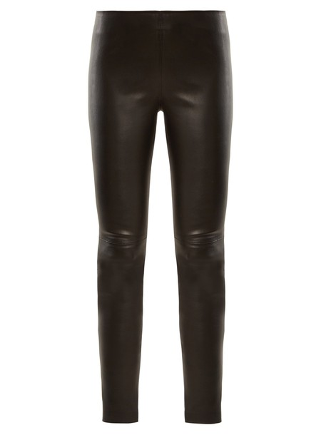 leggings leather leggings zip high leather black pants