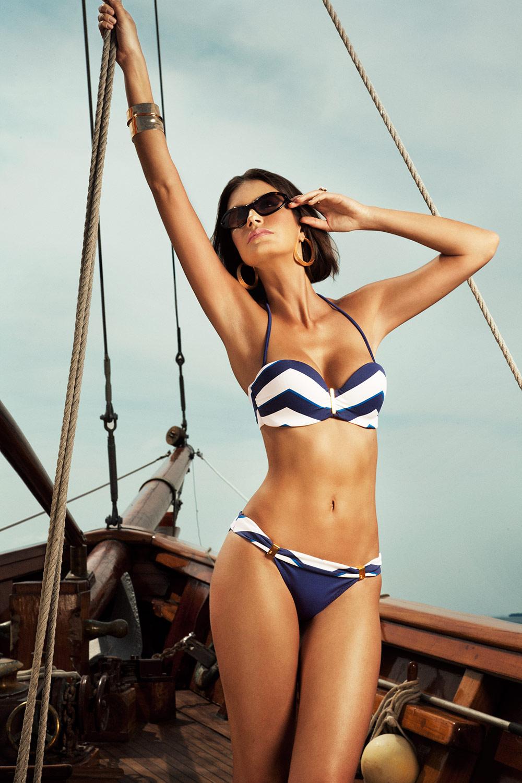 Nantucket Chevron Bikini by Verano High Swimwear