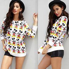 90s Mickey ALL Over Print Sweater Sweatshirt Streetwear Disney Cartoon Inspired | eBay