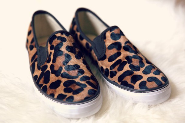 shoes, leopard print, slip on shoes, slip-on, vans, animal print ...